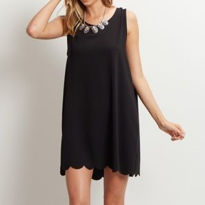 Pinkblush Dresses - Pinkblush Black Scalloped Hem Dress